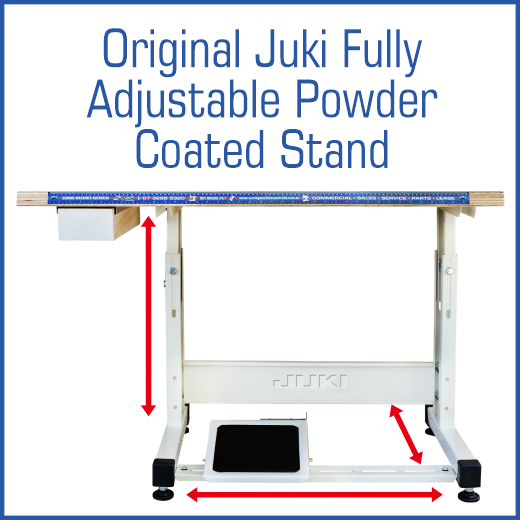 DDL 8000A The SMA Difference Original Juki Fully Adjustable Powder Coated Stand